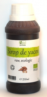 Sirop de yacon raw bio 250ml, Obio