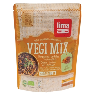 Vegi mix curry, bulgur si linte bio 250g, Lima