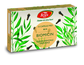Biomicin (Antibiotic natural), A14, capsule moi, Fares