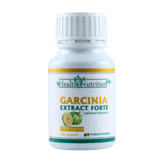 GARCINIA EXTRACT FORTE 100% naturala, 180 capsule, Health Nutrition