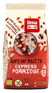 Porridge Express cu superfructe fara gluten bio 350g, Lima