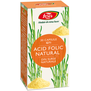 Acid Folic Natural, G71, capsule, Fares