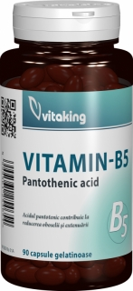 Vitamina B5 (acid pantotenic) 200mg - 90 capsule, Vitaking