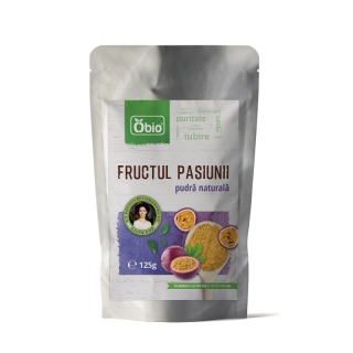 Fructul pasiunii pulbere raw 125g, Obio